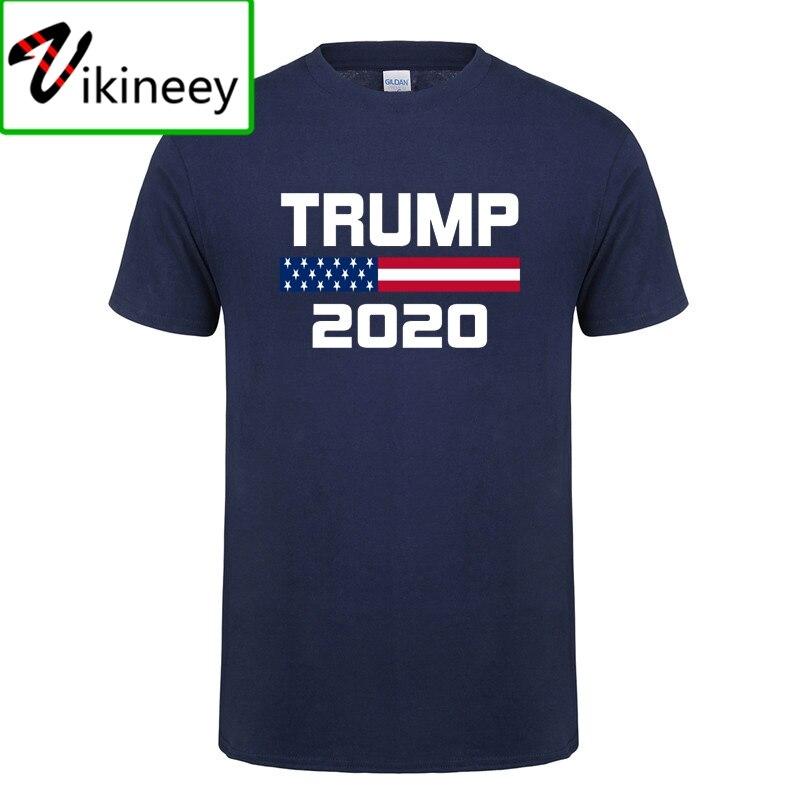 Bandera Americana mantener América gran Donald Trump para Presidente EE. UU. Republicana de 2020 T camisa para los hombres Camisas algodón Premium