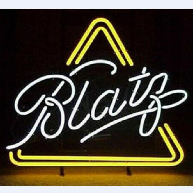 Custom Blatz Triangle ONTAP Neon Light Sign Beer