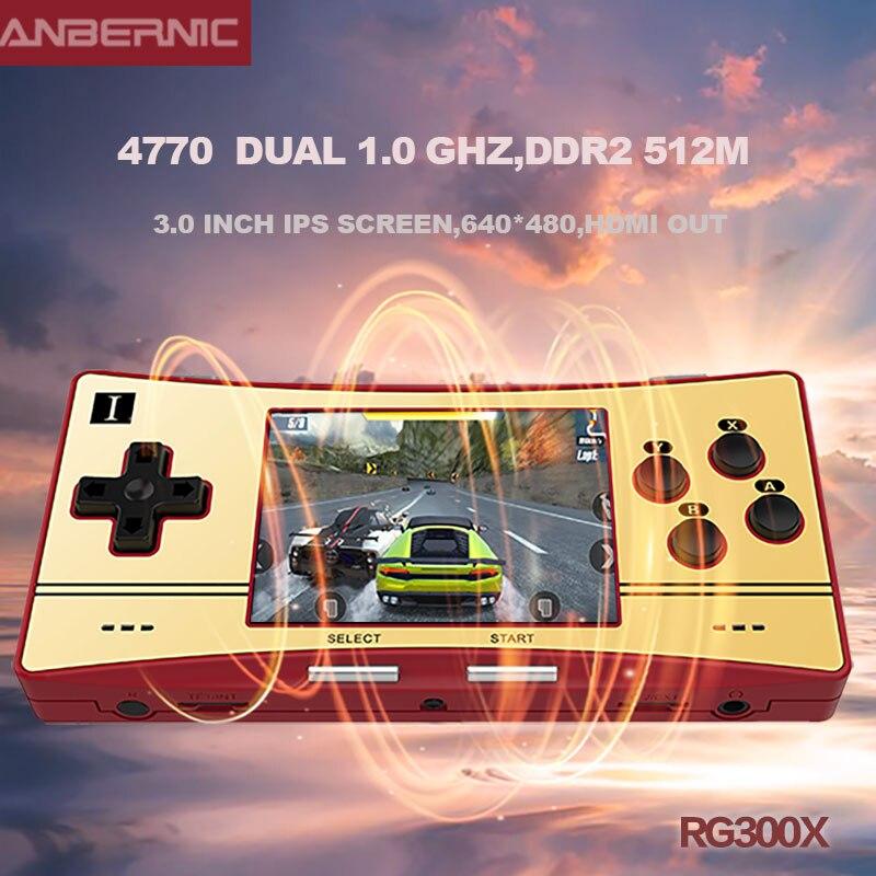 Anbernic-consola de juegos portátil Retro RG300X, reproductor de videojuegos Min para PS1, soporte HD, 5000 juegos integrados, regalo para niños