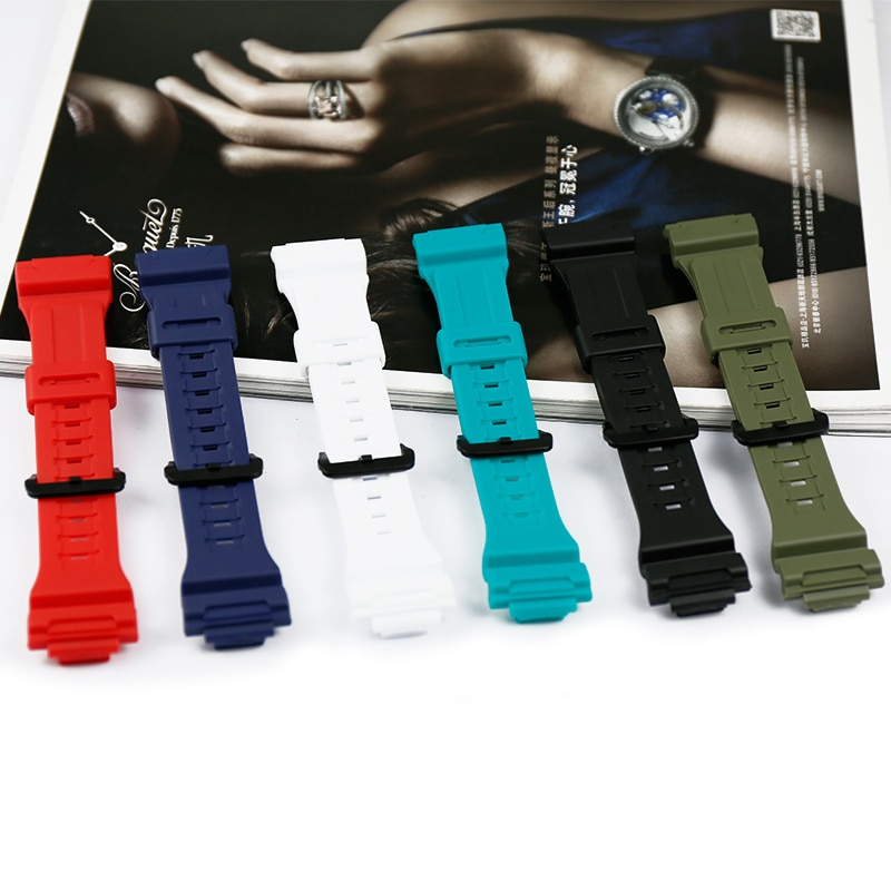 Resin strap case men's watch accessories pin buckle for Casio AQ-S810W AQ-S800W-1A sports waterproof