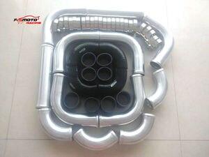 """2.5"""" 12pcs Aluminum Intercooler Turbo Piping & Hose & T-Clamp New"""