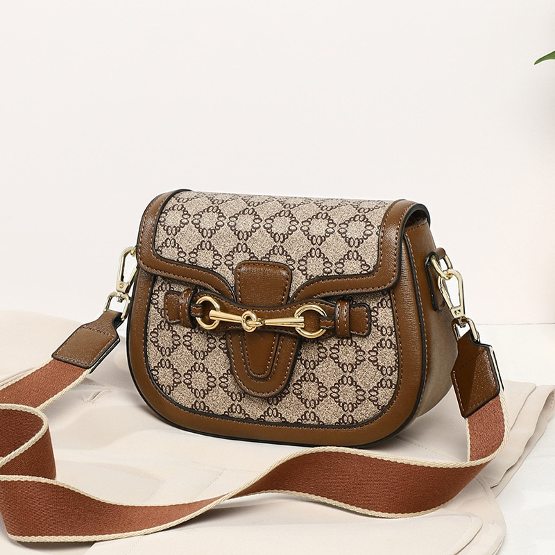 Women Bag Female Brand Luxury Handbag Designer Shoulder Crossbody Chic High Quality Saddle Shopper P