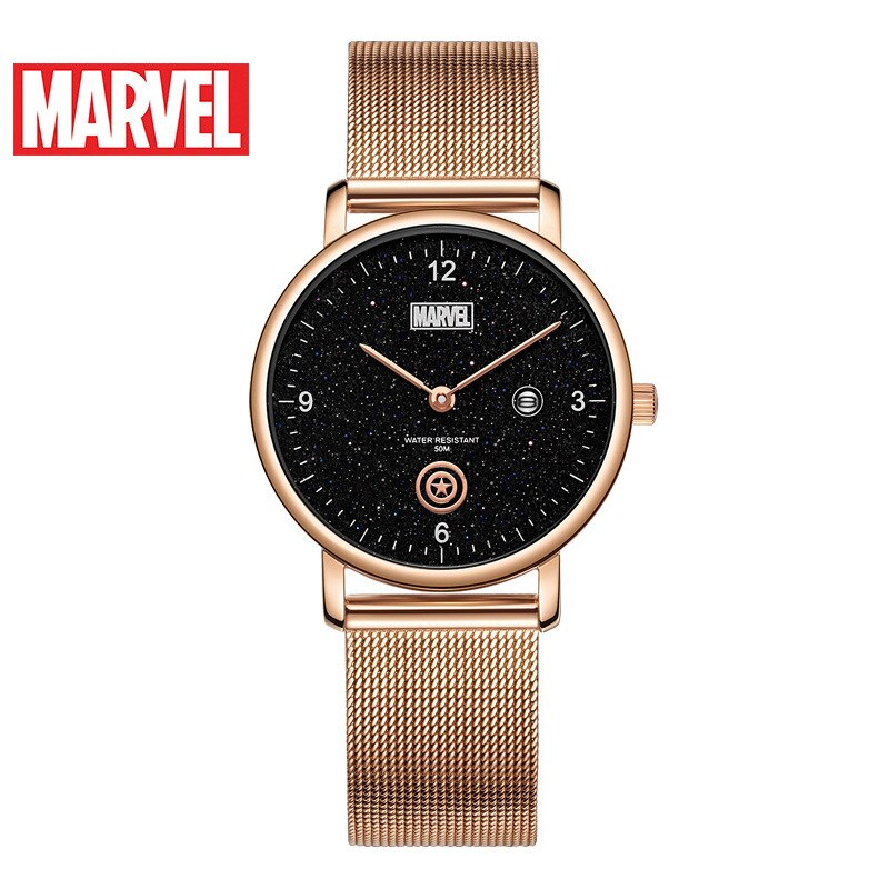 Disney 2021 New Belt Casual Cool Watch Marvel Watch Captain America Ladies Quartz