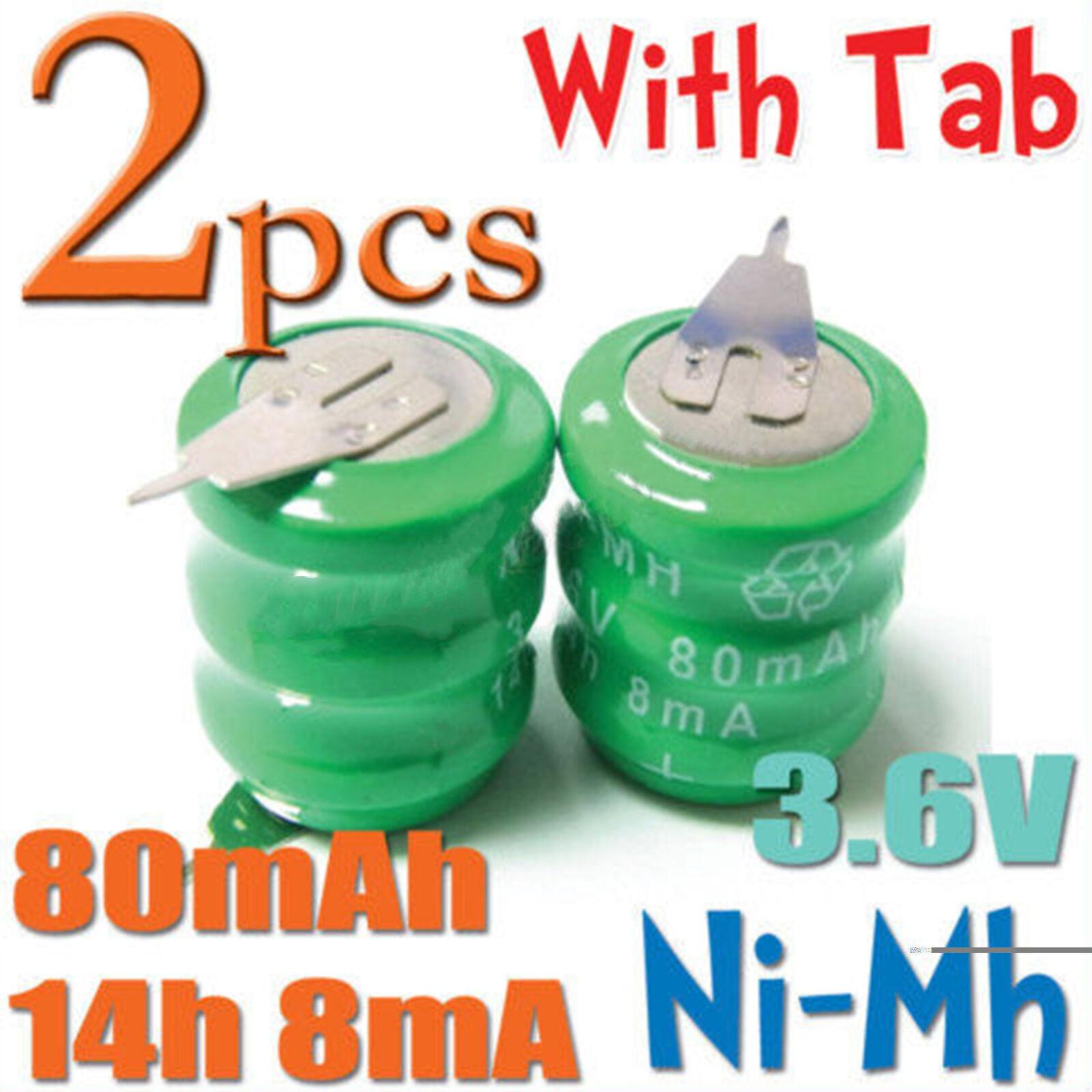 2X14H Ni-Mh 3.6V 80Mah Oplaadbare Batterij Cellen 8mA