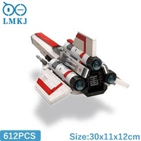 moc star mk1 space series building blocks bricks city sets high tech model diy education toys for children birthday gifts 612pcs
