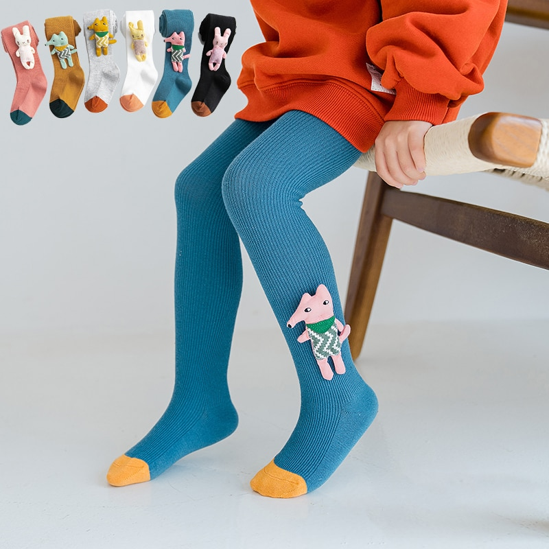 Kinder Mädchen Baumwolle Strumpfhosen Kinder Weiß Bogen Gestaltung Frühjahr Mode Nette Fox Tier Lustige Strumpfhosen Kleinkind Hosen Baby Zubehör