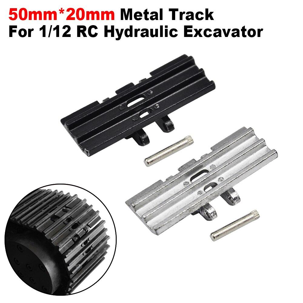 50 мм * 20 мм гусеничная полностью Металлическая гусеничная цепь для 1/12 RC гидравлический экскаватор автозапчасти
