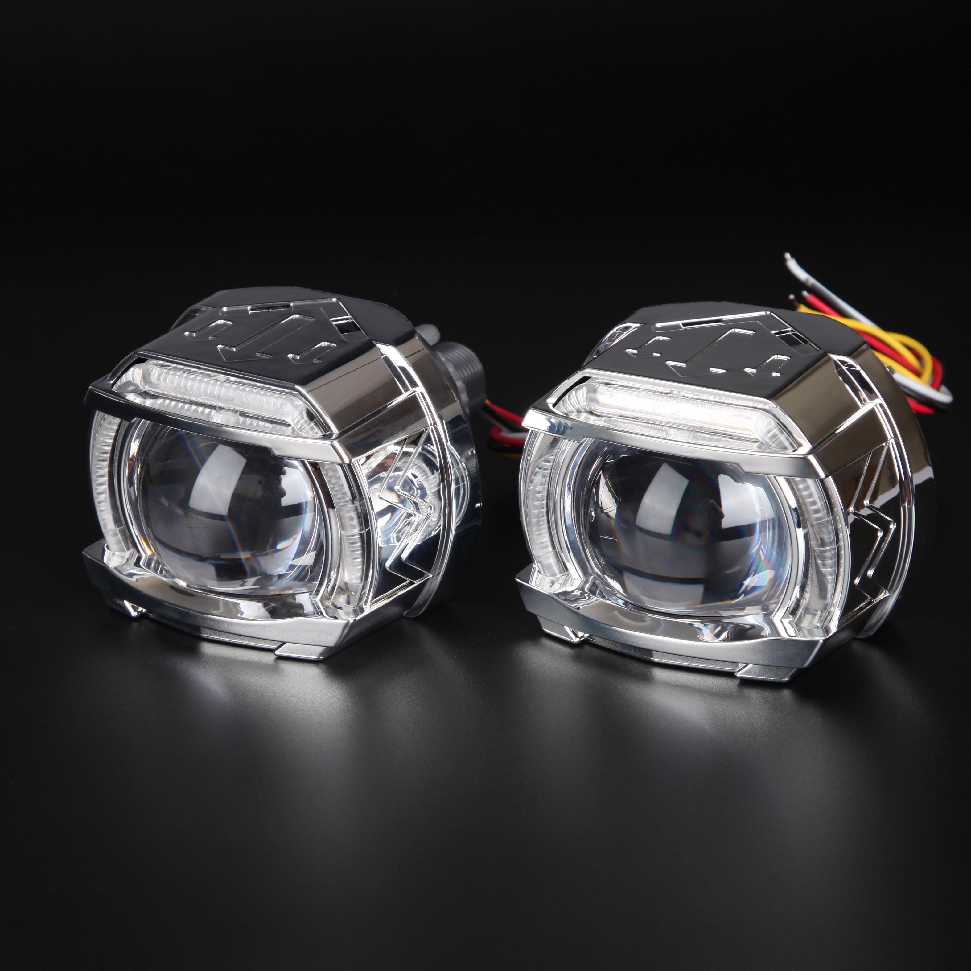LED High Beam Angel Eyes Projector Lens Car Lenses More Focus Lens for Headlight Running Light Car Light Accessories 12V