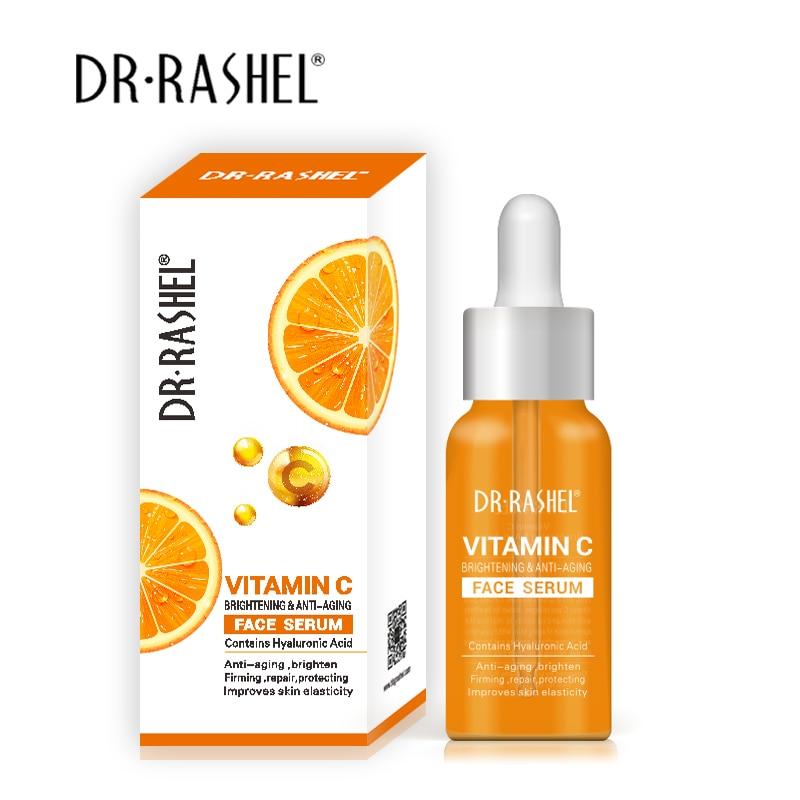 50ML Vitamin C Brightening Face Serum Hyaluronic Acid Face Essence Oil Firming Anti-Wrinkle Anti-Aging Anti Acne
