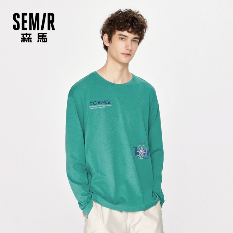 NOVEDAD DE VERANO 2020, camisetas holgadas de manga larga para hombre, moda de tendencia coreana, camisetas informales de algodón transpirable para hombre