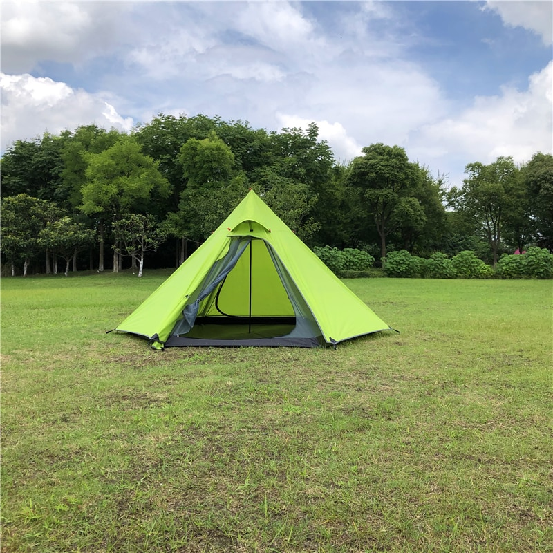 ST Outdoor Hexagonal Teepee Tent Double Layer One Pole Pyramid Camping Gear Hiking Adventure