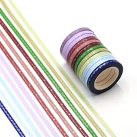 3pcsset slim foil washi tape quality stationery diy scrapbooking photo album school tools kawaii scrapbook paper stickers gift