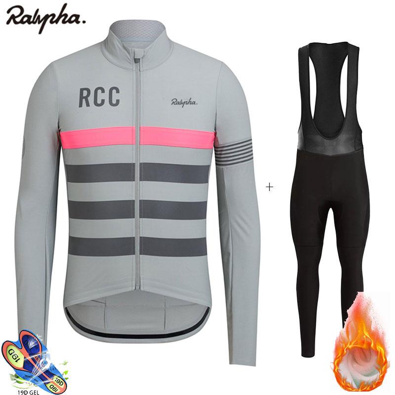 Ralvpha-traje de Ciclismo profesional RCC para hombre, conjunto de babero, vellón de...