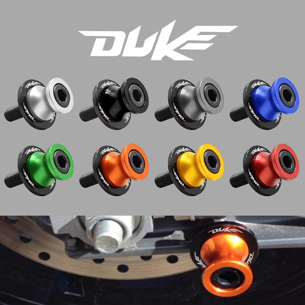 Accesorios de motocicleta CNC de aluminio 10MM carretes basculantes Slider Stands tornillo para KTM 125DUKE 200 390DUKE 690 790 DUKE