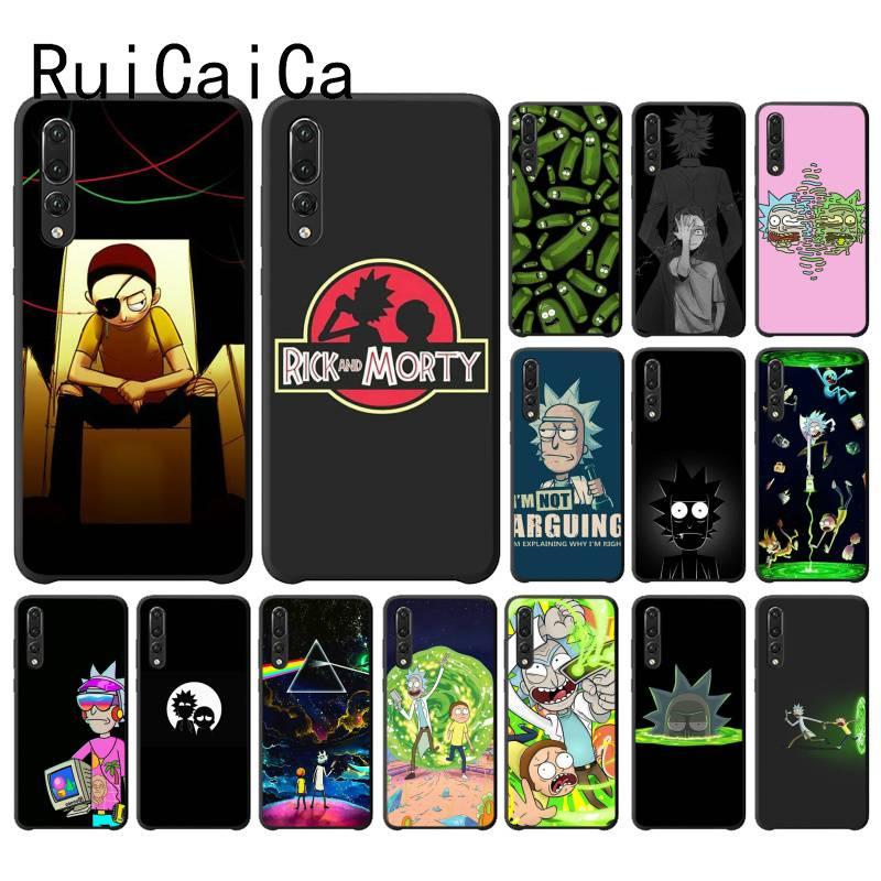 RuiCaiCa Rick And Morty Cartoon Anime Phone Case for Huawei P30 PRO LITE P SMART P20LITE 2018 NOVA 2 2I 2PLUS 2S P smart plus