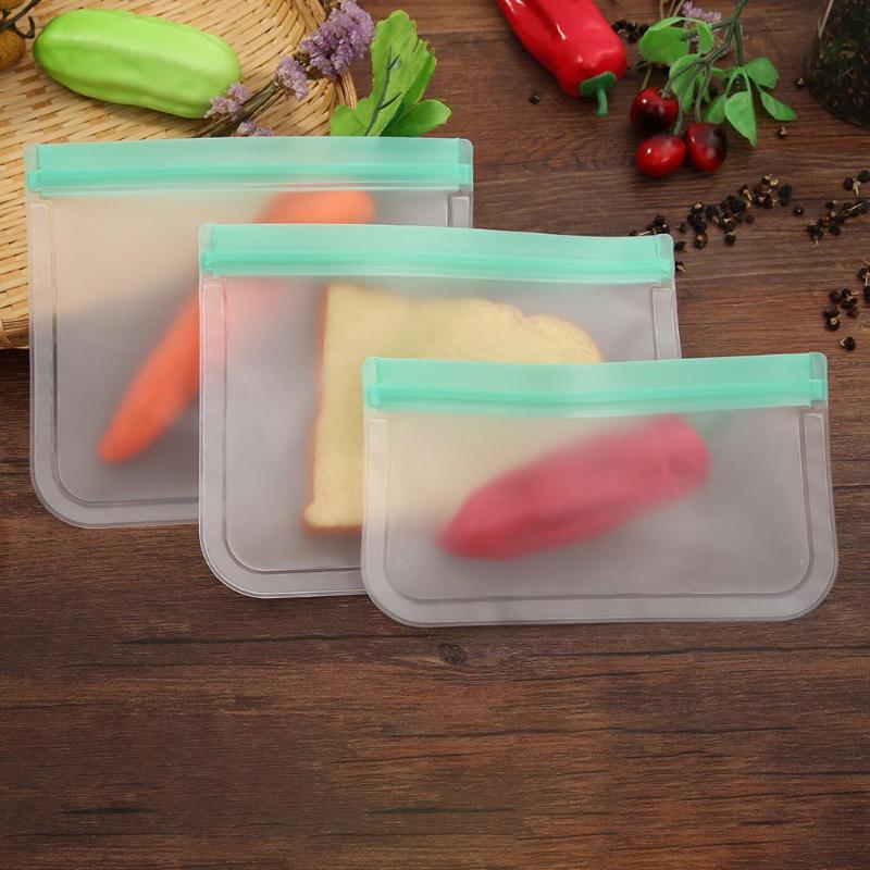 Recipientes de armazenamento de alimentos de silicone à prova de vazamento recipientes reutilizáveis levantam-se zip saco fechado copo saco fresco cozinha lanche saco de armazenamento