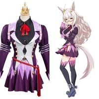 anime umamusume pretty derby cosplay biwa hayahide dress costumes halloween carnival custom make