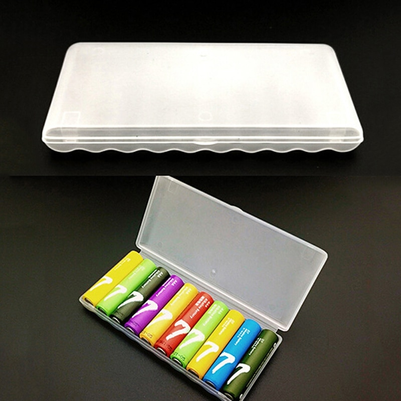 1 pçs portátil caso de bateria de plástico capa titular caixa de armazenamento para 10pcs aaa baterias caso de armazenamento para 10pcs aaa bateria sd & hi