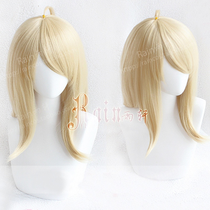 Dangan Ronpa Danganronpa V3 pianista Akamatsu kaede largo suave rubia dorada resistente al calor Cosplay disfraz peluca