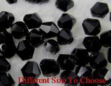 4mm 6mm 3mm 1000 adet/grup strand Bicone Faceted cam kesim kaybeder kristal boncuklar renkli beyaz temizle AB yh4