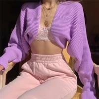 y2k sweater womens sweater casual fashion 2021coat drawstring halter short sweater knit jacket pullovers harajuku streetwear