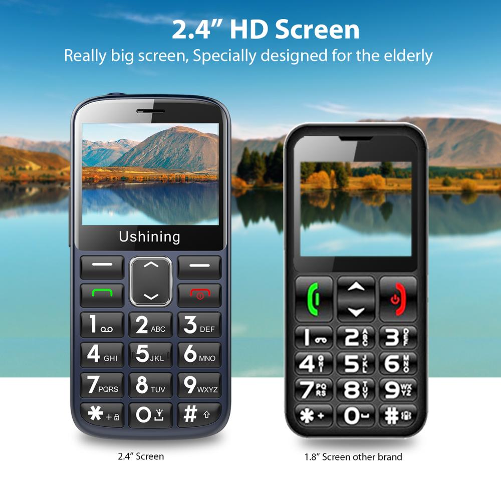 2G Big Button Mobile Phone for Elderly, Unlocked Senior Mobile Phone With SOS Emergency Button,HAC Compatible Charging Dock-BLUE enlarge