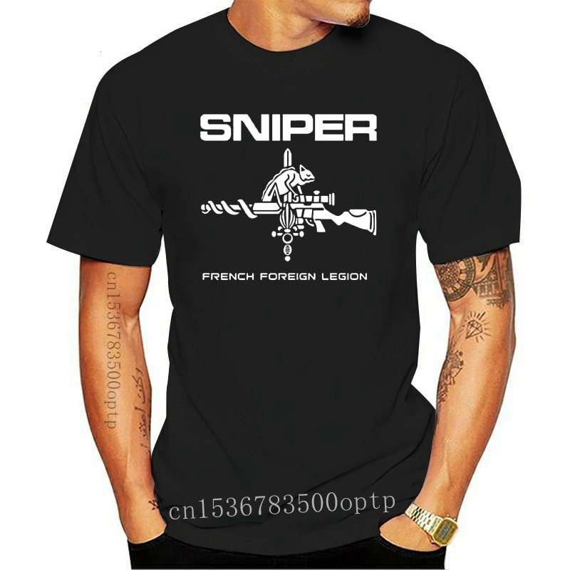 New French Foreign Legion 2e Legion Etrangere T shirt men two sides Special Forces Sniper gift casua