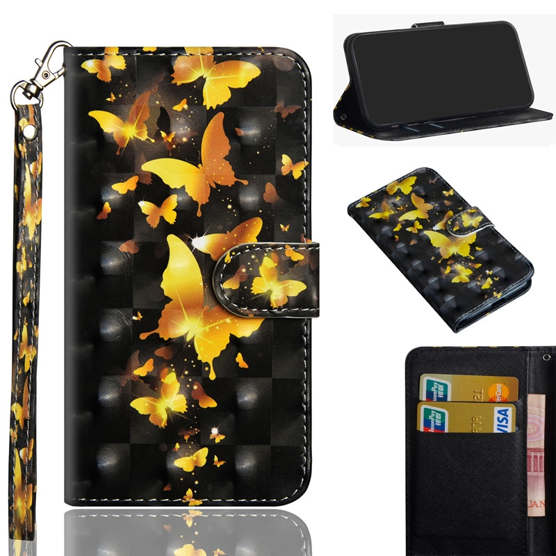 Luxury 3D PU Leather Flip Cases For Xiaomi Redmi Note 8 Case Wallet Bag Case For Xiomi Redmi Note 8 Pro MI 10 Cover