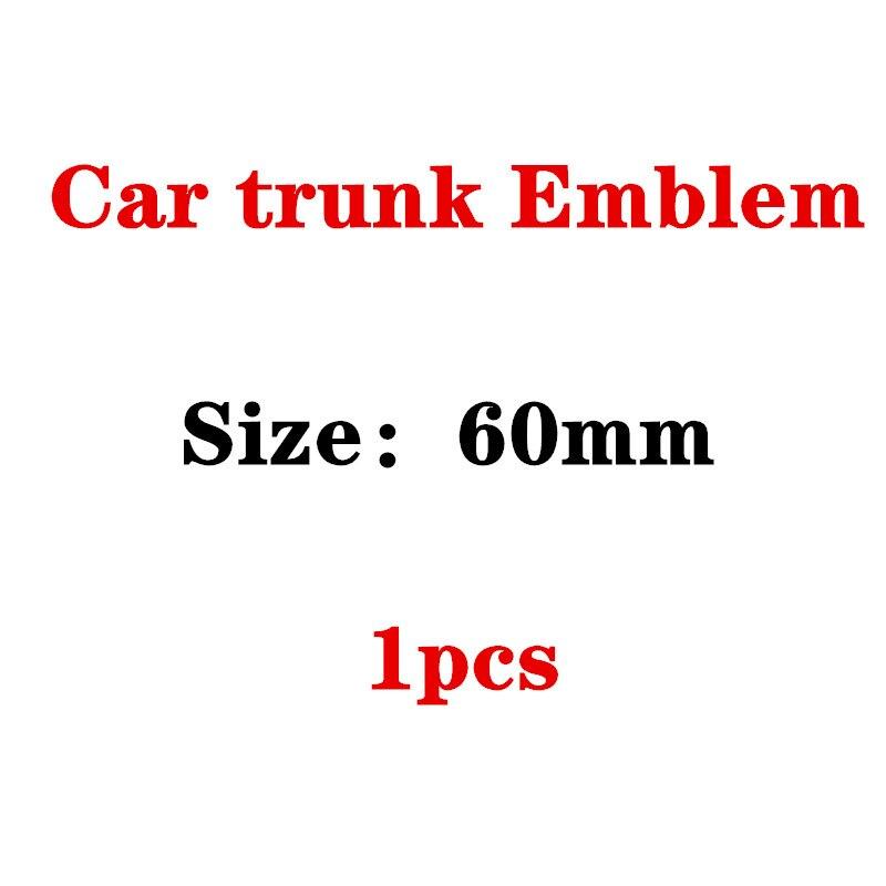 60mm centro traseiro médio emblema apple tree estrela logotipo do carro modificado emblema para mercedes benz amg lorinser brabus