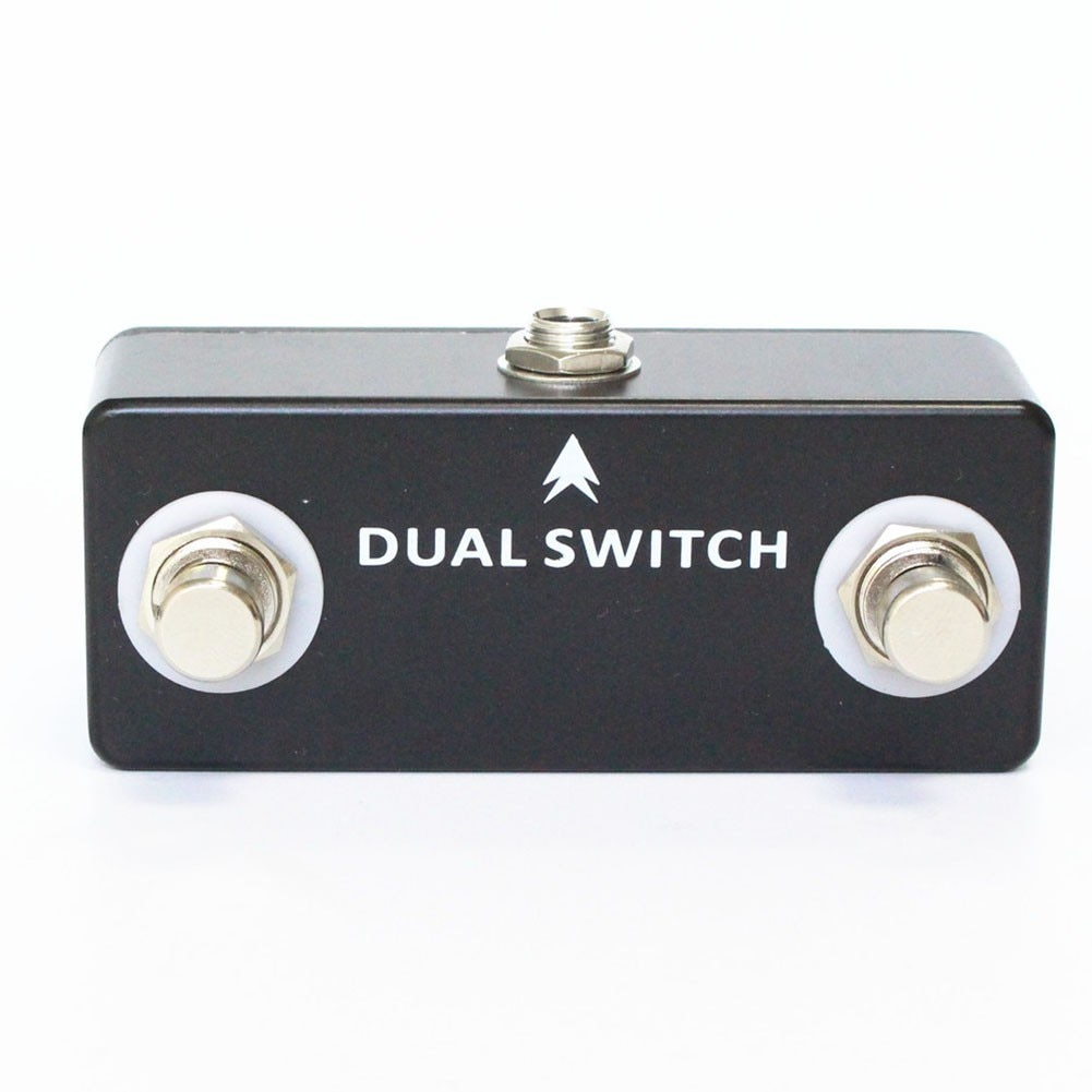 signkoray footswitch foot momentary control switch electric power pedal for laser marking machine Dual Tap Switch Momentary Footswitch Electric Guitar Effect Pedal Compact One 1/4 Stereo Jack Durable Basses Parts Accessories