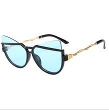 2020 nouvelle mode belle mignon chat yeux enfants lunettes de soleil marque Design acrylique matériel lentilles 1927 UV400 lunettes de Protection