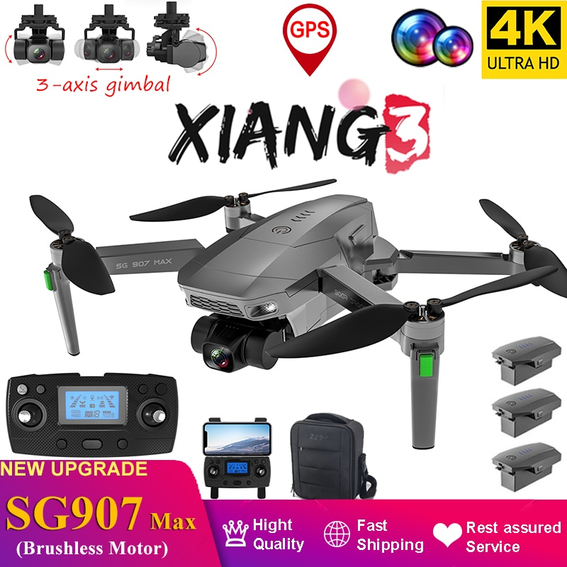 SG907 MAX-3 محاور Gimbal GPS uav ، كاميرا 4k HD 2021 m RC Quadcopter ، RC ، ترقية 1200 ، ألعاب عالية التقنية ، هدايا ، شحن سريع