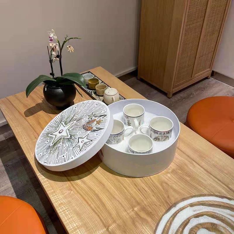 العظام الصين اليدوية مجموعة الاكواب