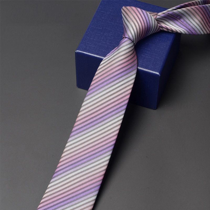 Brand New Men's Business Tie High Quality 6CM Wide Neck Tie For Men Fashion Casual Striped Necktie Male Work Party Neckties