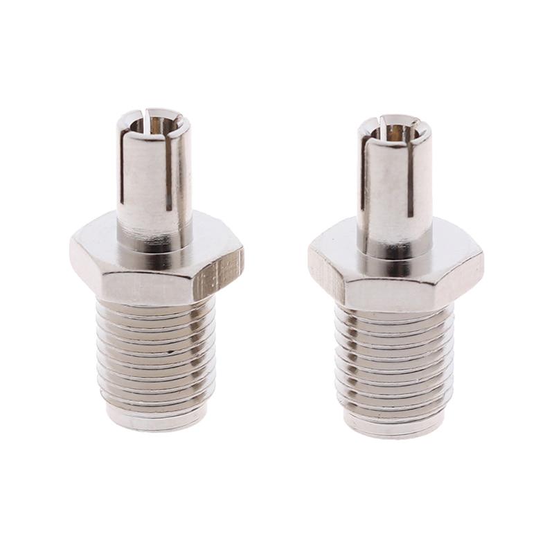 2pcs RF Coaxial Adapter SMA To TS9 Coax Jack Connector SMA Female Jack To TS9 Male Plug Silver