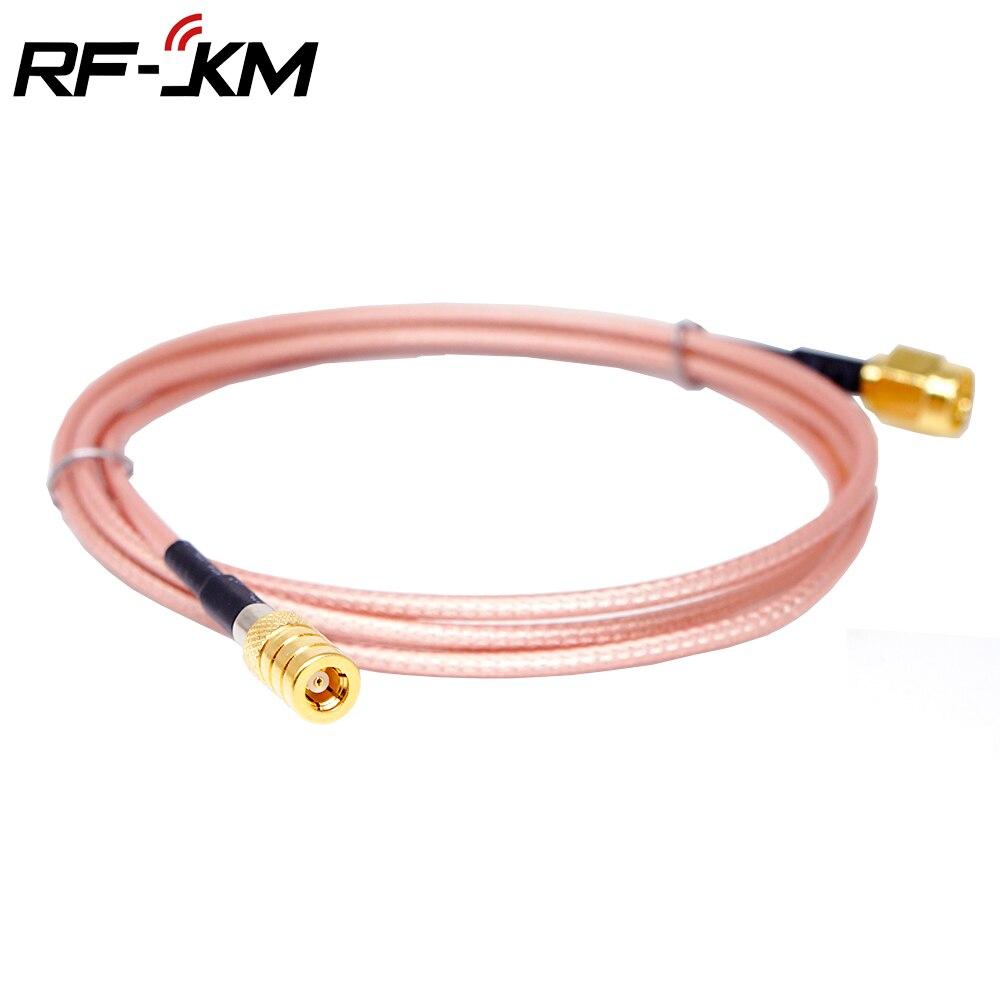 De Cable RF SMA macho a SMB mujer RG316 Cable Pigtail 15/30/50cm/1m SMA macho de crimpado de La FPV RG316 Cable de 50 ohmios