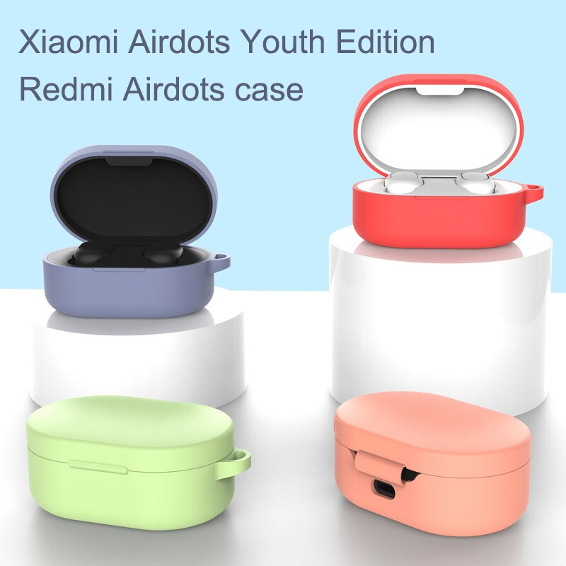 Custodia Cuffie Applicable Red Mi Airdots Youth Version Of The Headset Set Xiaomi Bluetooth Headset Silicone Protective Cover