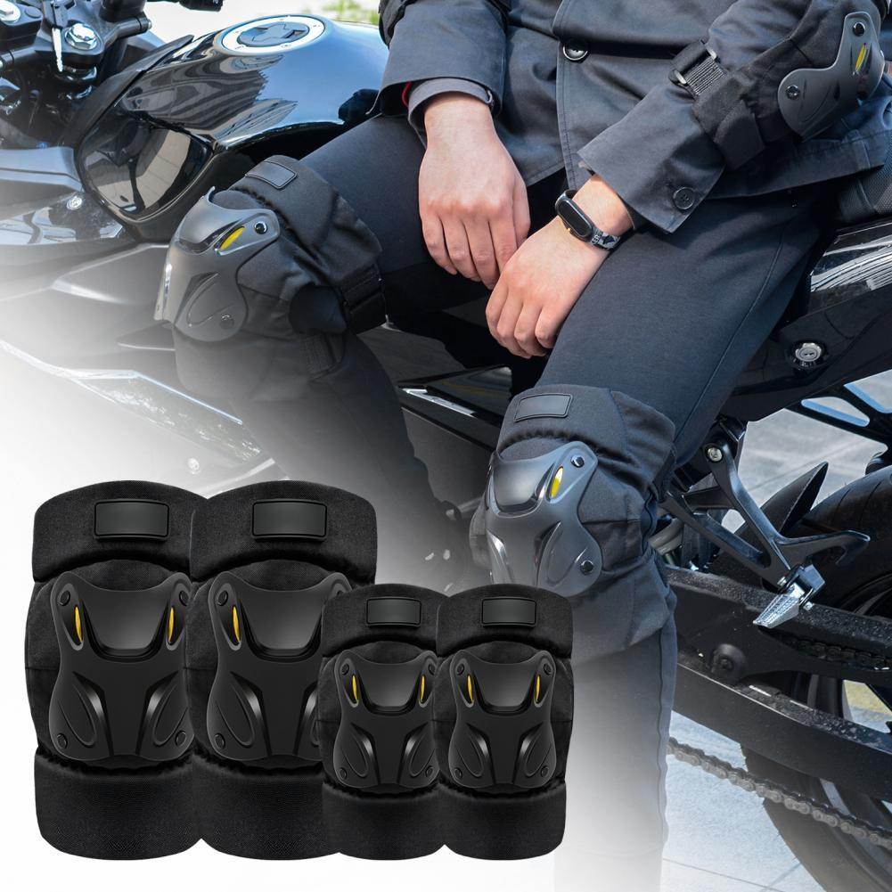80% HOT SALES!! 4Pcs/Set CS-136C1 Elbow Knee Protector Damp-Proof Anti-Collision EVA Breathable Motorcycle Protector Set for Mot