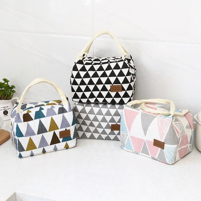 حقيبة كبيرة المحمولة الحرارية الغذاء تخزين حقائب للنساء الاطفال نزهة حقيبة غداء N4N003B34