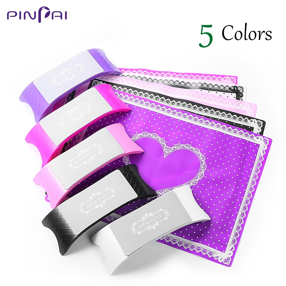 1 Juego de manicura para manicura de manicura, soporte de brazo, cojín, cojín, almohadilla, almohadilla plegable lavable, herramientas de manicura de salón D143