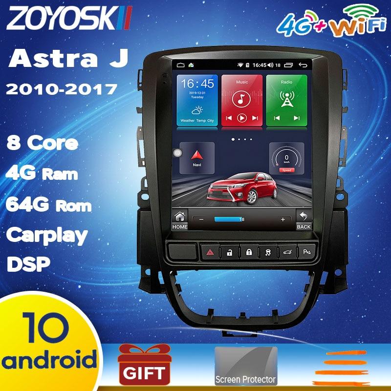 Android os 9.0 10 voiture multimédia GPS pour Opel Astra J Vauxhall Buick Verano 2009-2014 Radio écran Vertical carplay Tesla style