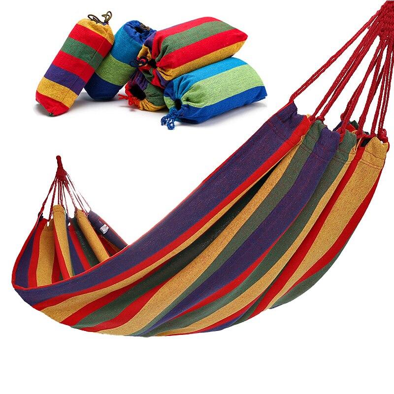 Двойной широкий гамак из толстой холщовой ткани, портативный гамак, уличные качели для кемпинга и сада, подвесное кресло