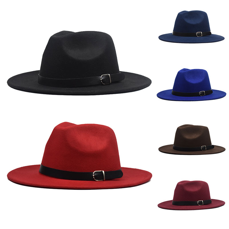Soft 8 Colors Comfortable Jazz Hat European Women Men Ladies Fedoras Top Autumn 1PC Imitation Woolen