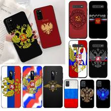 Russia Flag national emblem Soft Phone Case Cover for Samsung S20 plus Ultra S6 S7 edge S8 S9 plus S