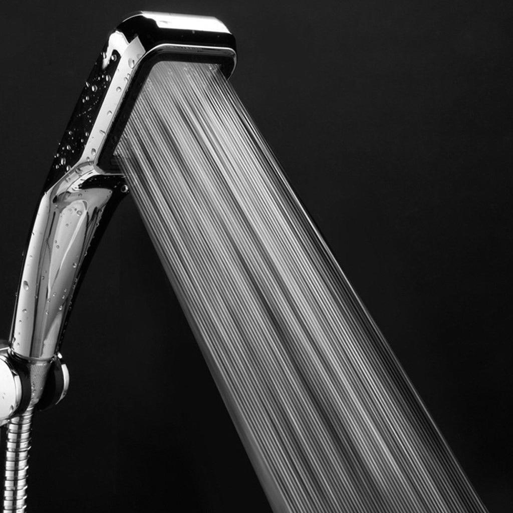 300 Holes High Pressure Shower Head Powerfull Boosting Spray Bath Water Saving Handheld Shower Head Chrome Heater Nozzle  F1