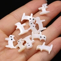 10pcslot natural shell pendant small cat shape mother of pearl shell beads jewelry making diy necklace earrings accessories