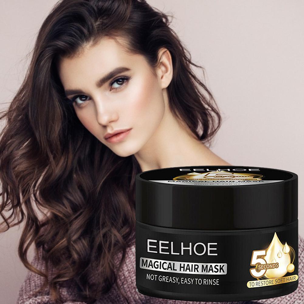 Mascarilla para el cabello mágica, hidratante y nutritiva, 5 segundos, para restaurar el cabello suave y dañado, tratamiento para el cuero cabelludo y el cabello acondicionador