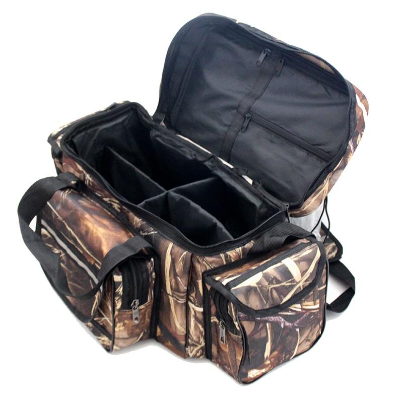50*30*25cm Waterproof Fishing Bag Nylon Large Capacity Multi-Purpose Fishing Tackle Bag Two-Layer Outdoor Shoulder Bags X429 enlarge