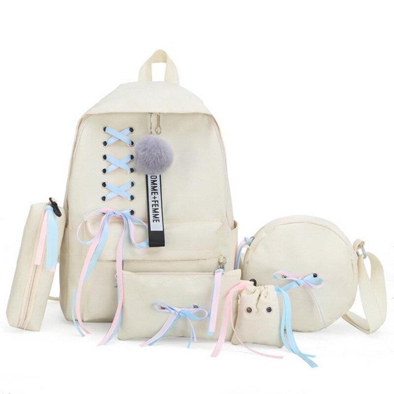 DIHOPE bolsas escolares grandes para niñas adolescentes Usb con cerradura antirrobo mochila mujer libro bolsa grande mochila de Instituto cintas