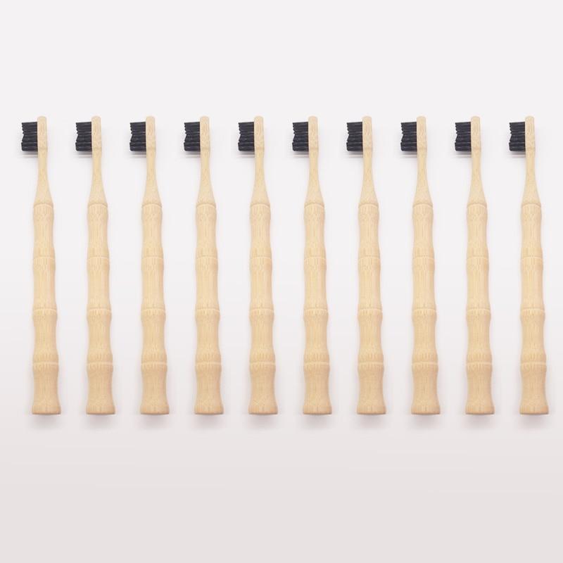 10 個竹歯ブラシナチュラルエコフレンドリーなハード毛木製歯ブラシ口腔 careTooth クリーニング低炭素歯ブラシ